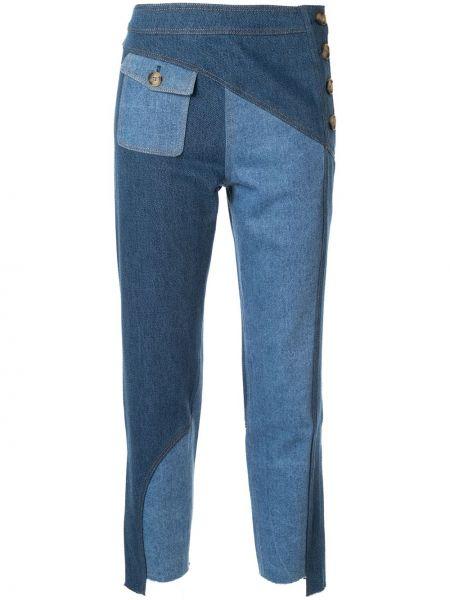Укороченные джинсы с карманами в стиле бохо с воротником Rejina Pyo