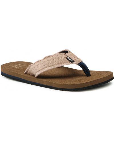 Brązowe sandały japonki Billabong