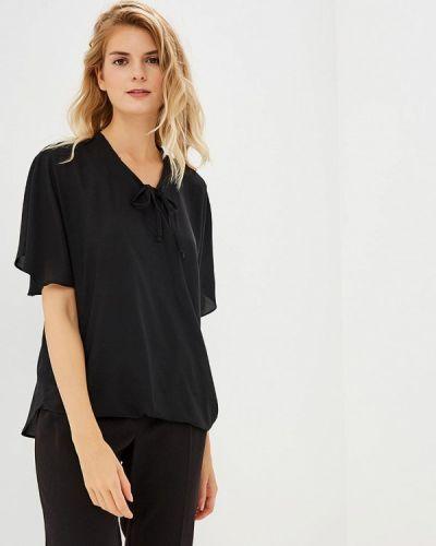 Блузка с бантом черная Piazza Italia