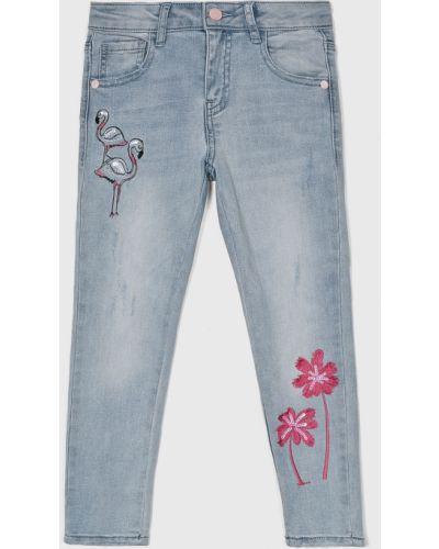 Джинсы с поясом голубой Guess Jeans
