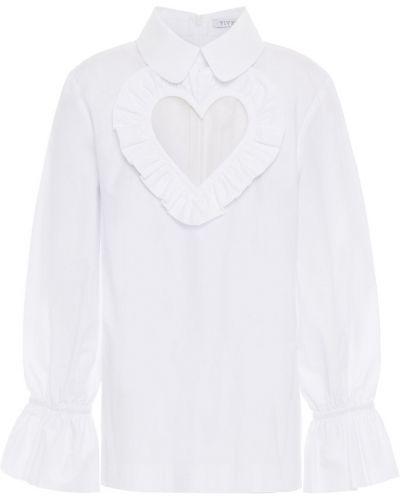 Biała bluzka z siateczką bawełniana Vivetta