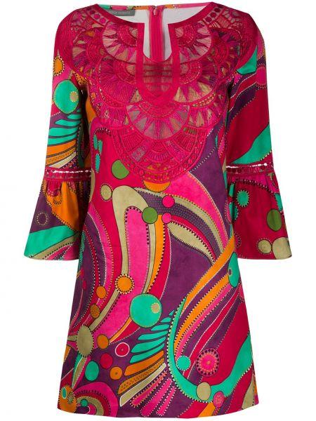Платье с вышивкой на молнии Alberta Ferretti