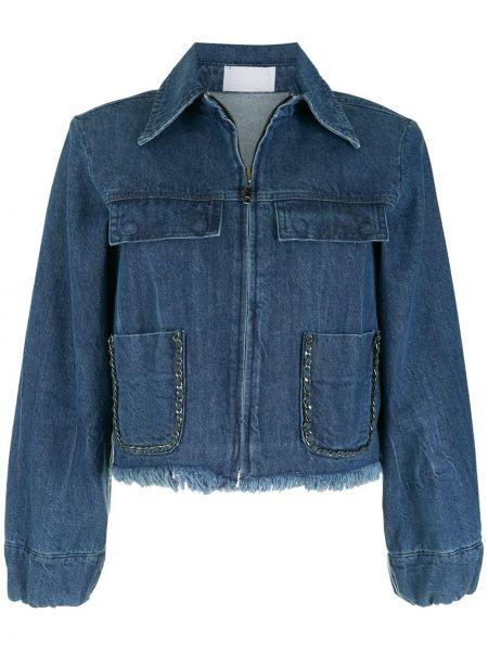 Синяя куртка на молнии Andrea Bogosian