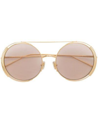 Солнцезащитные очки розовый желтый Boucheron Eyewear