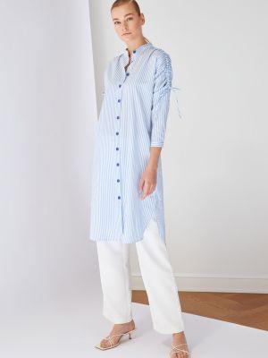 Niebieska tunika bawełniana Koton