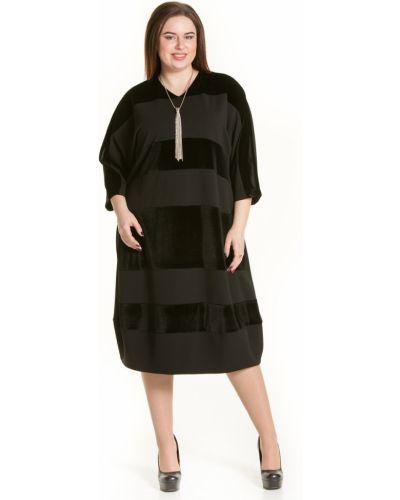 Платье в полоску со вставками Luxury