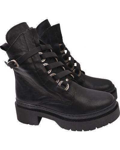 Кожаные ботинки - черные Estomod
