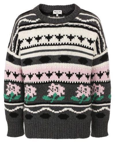 Тонкий свободный шерстяной свитер Paul&joe