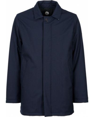Klasyczny niebieski płaszcz z długimi rękawami People Of Shibuya