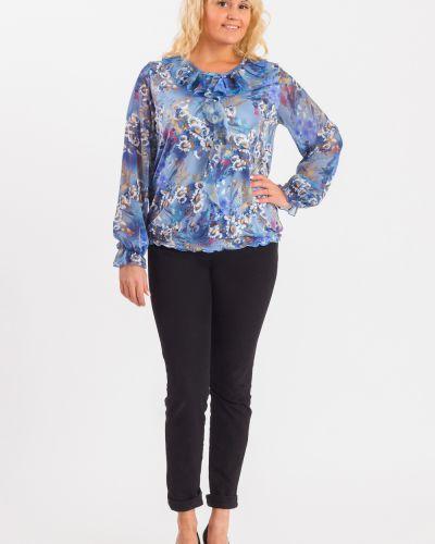 Блузка с длинным рукавом синяя Lacywear