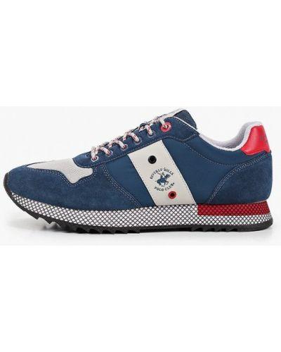 Синие кожаные низкие кроссовки Beverly Hills Polo Club
