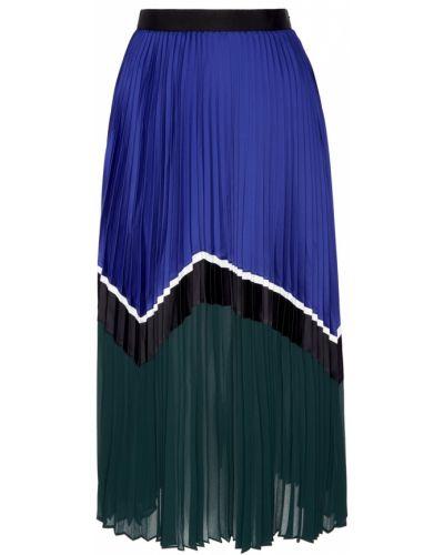 Плиссированная юбка миди с завышенной талией Self-portrait
