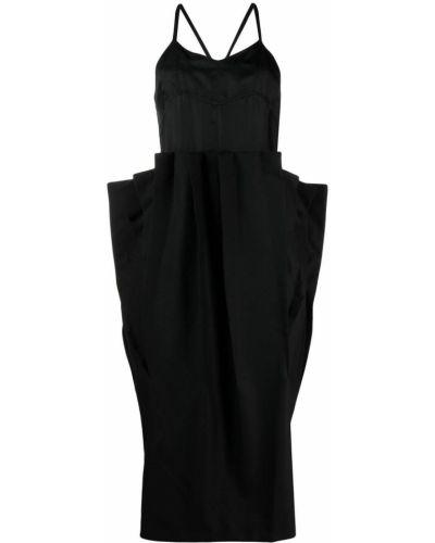 Шерстяная плиссированная черная юбка миди Comme Des Garçons Noir Kei Ninomiya