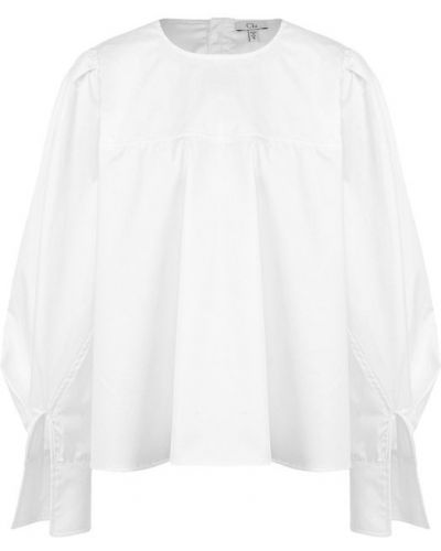 Белая блузка с широкими манжетами Clu