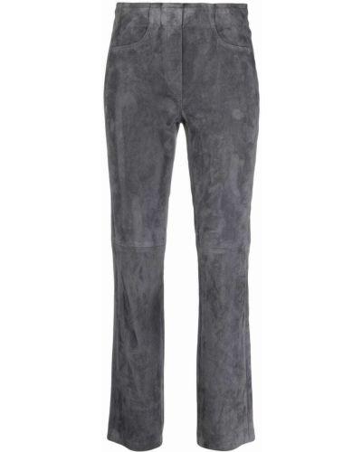 Кожаные брюки - серые Luisa Cerano