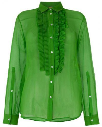 Классическая рубашка прозрачная с длинным рукавом N21