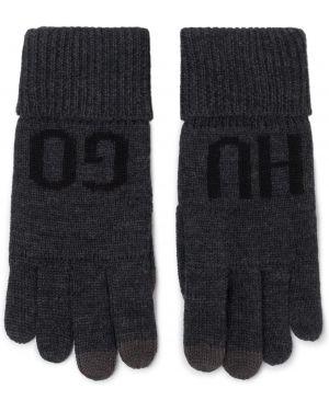 Szare rękawiczki z akrylu Hugo
