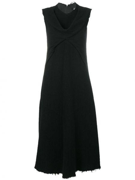 Нейлоновое платье миди винтажное без рукавов на молнии Junya Watanabe Comme Des Garçons Pre-owned