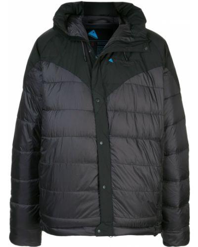 Черная куртка с капюшоном свободного кроя Klättermusen
