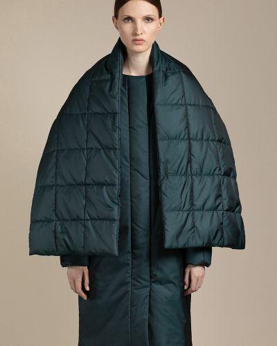 Пальто объемное - зеленое Vassa&co