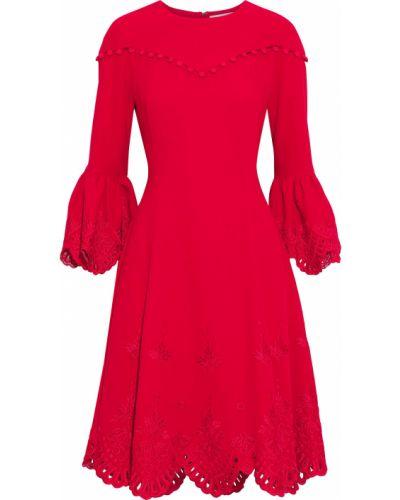 Платье с подкладкой с вышивкой на крючках Prabal Gurung