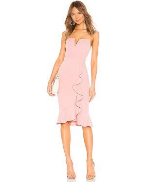 Różowa sukienka midi About Us