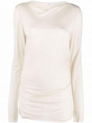 Koszulka z długimi rękawami - biała Filippa K