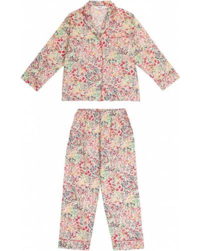 Różowa piżama bawełniana Bonpoint