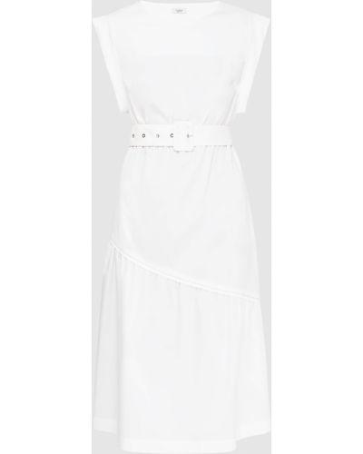 Белое платье миди Peserico