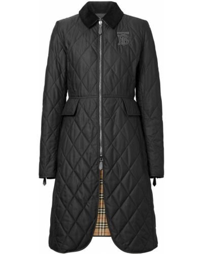 Длинное пальто стеганое без воротника Burberry