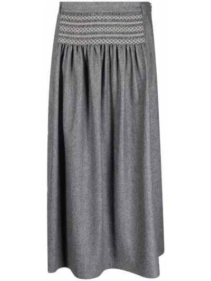 Шерстяная юбка - серая Sofie D'hoore