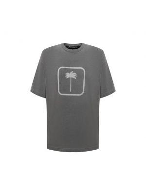 Серая итальянская футболка Palm Angels