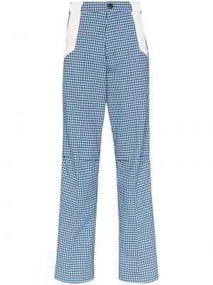 Niebieskie spodnie z printem Kiko Kostadinov