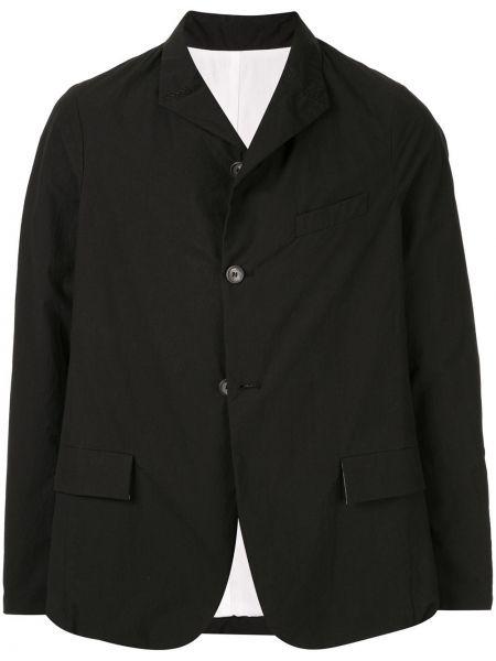 Черный однобортный пиджак на пуговицах с карманами Bergfabel