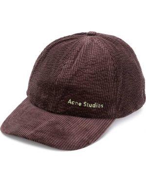 Czapka z logo spodnie sztruksowe Acne Studios