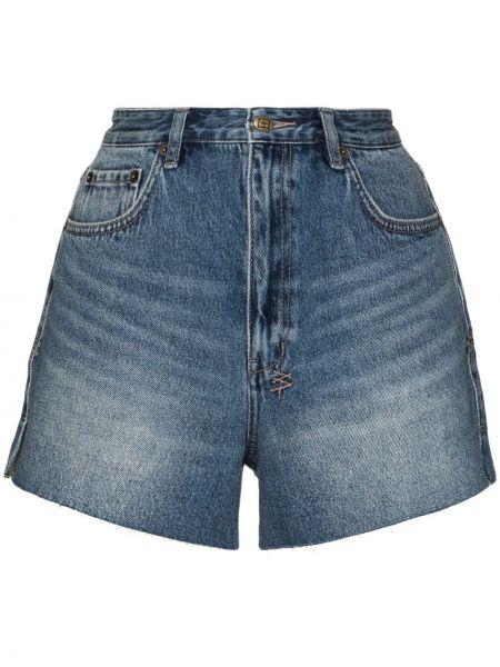 Синие хлопковые с завышенной талией джинсовые шорты Ksubi