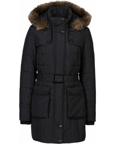 Зимняя куртка с капюшоном черная Bonprix