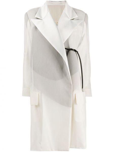 Długi płaszcz wełniany z kieszeniami Sacai