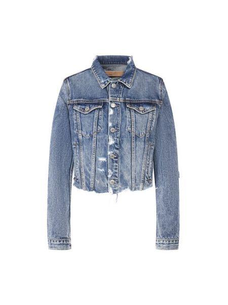 Синяя джинсовая куртка из вискозы Grlfrnd