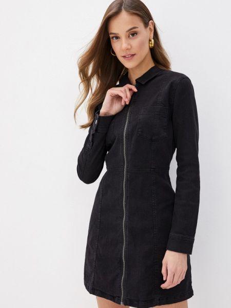 Джинсовое платье черное весеннее Noisy May