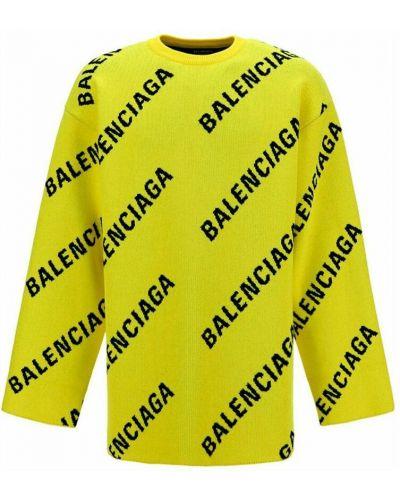 Sweter - żółty Balenciaga