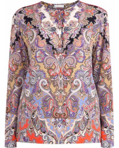 Блузка с длинным рукавом приталенная шелковая Etro