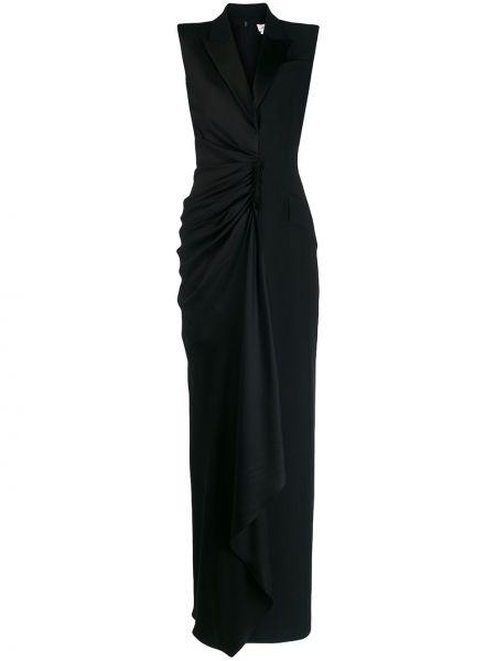 Sukienka wieczorowa z jedwabiu z kieszeniami Alexander Mcqueen