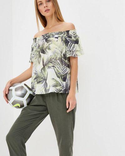 Зеленая блузка с рюшами Wallis
