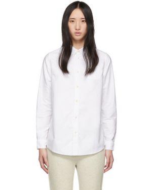 Пуховая приталенная рубашка с воротником с манжетами Visvim