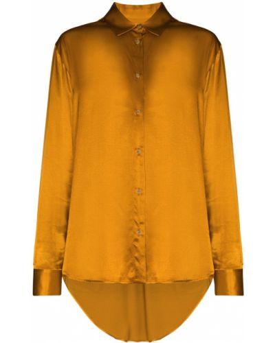 Желтая рубашка оверсайз на пуговицах Asceno