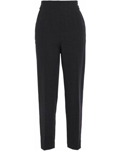Ażurowe czarne spodnie wełniane Akris
