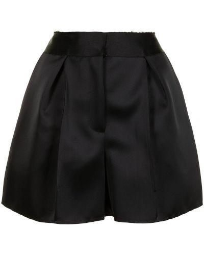 Черные с завышенной талией шорты с карманами Carolina Herrera