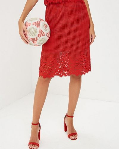 Красная юбка осенняя Tommy Hilfiger