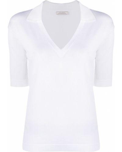 Хлопковая белая футболка с воротником Nina Ricci